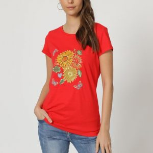 Camiseta girasoles