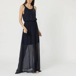 Vestido largo con pedrería