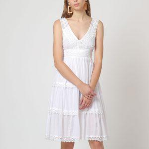 Vestido blanco de algodón