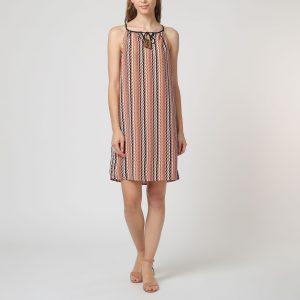 Vestido estampado geométrico